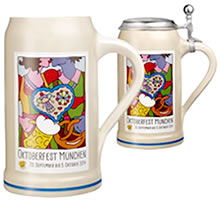 Offizieller Oktoberfest Bierkrug - Traditional Bavarian beer steins and mugs