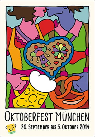 Wiesnplakat - New official poster of the Munich Oktoberfest